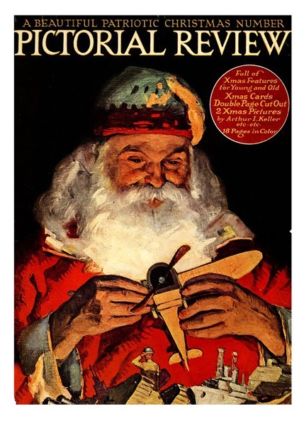Order Now! Vintage Santa Pictorial Review Magazine Cover (1918)  Christmas Cards from Douglas E. Welch Design and Photography [For Sale]