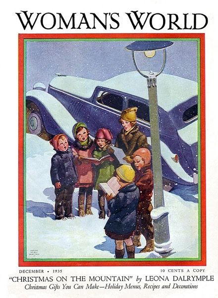Order Now! Vintage Woman'e World Christmas Magazine Cover (1935) Christmas Cards from Douglas E. Welch Design and Photography [For Sale]
