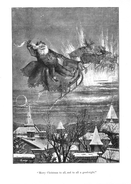Order Now! Vintage Santa Christmas Etching