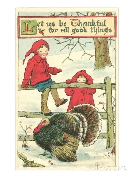 Thanksgiving 2020 - 5 in a series - Children and Turkey