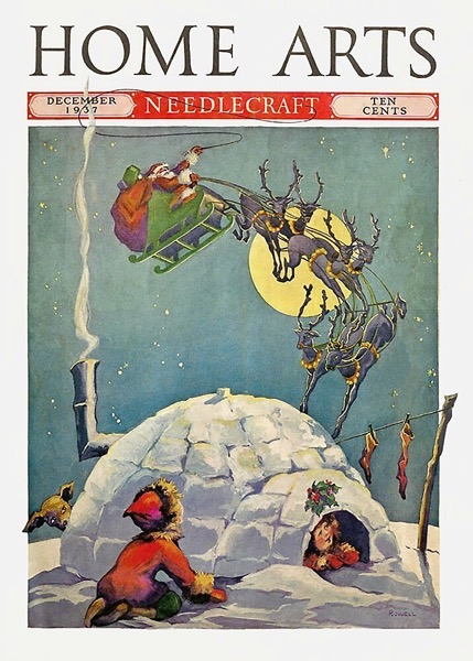 Order Now! Vintage Christmas Magazine Cover from Home Arts (1937) Christmas Cards from Douglas E. Welch Design and Photography [For Sale]