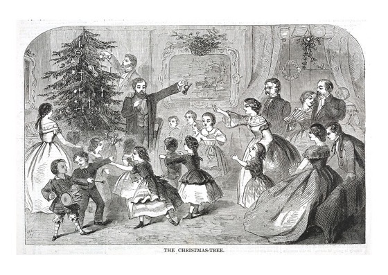 "Order Now! ""The Christmas Tree"" Vintage Christmas Print by Winslow Homer (1858) Christmas Cards from Douglas E. Welch Design and Photography [For Sale]"