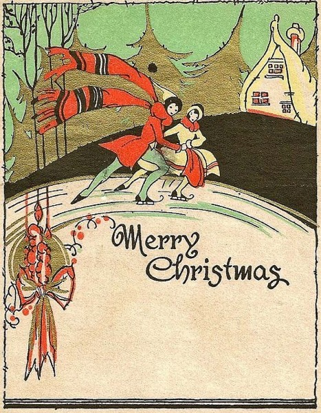 Christmas 2020 - 13 in a series - Vintage Christmas Card
