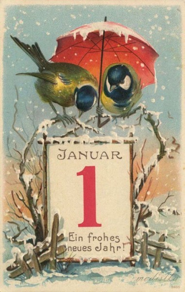 New Year's 2021 - 3 in a series - Vintage New Year's Card