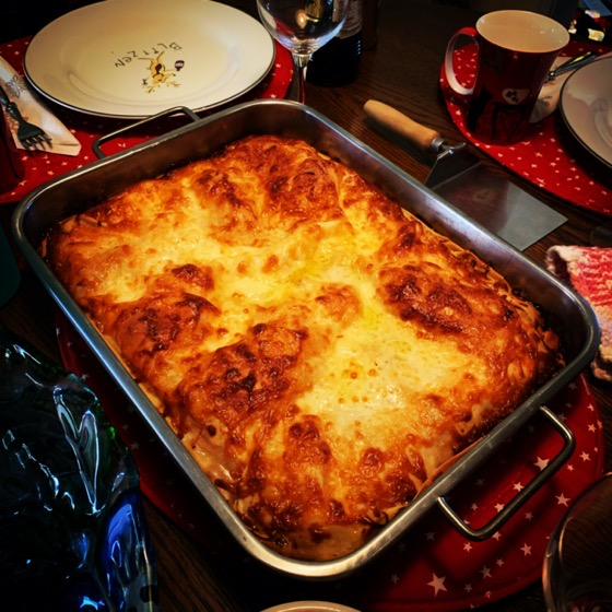Christmas lasagna via Instagram