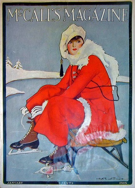 Christmas 2020 - 24 in a series -  Christmas Skater Cover from McCall's Magazine (1916)