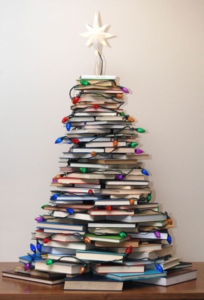 Christmas 2020 – 8 in a series – How to Make a Christmas Tree with Books
