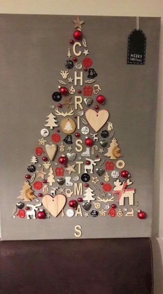 Christmas 2020 – 17 in a series – Wall Christmas Tree