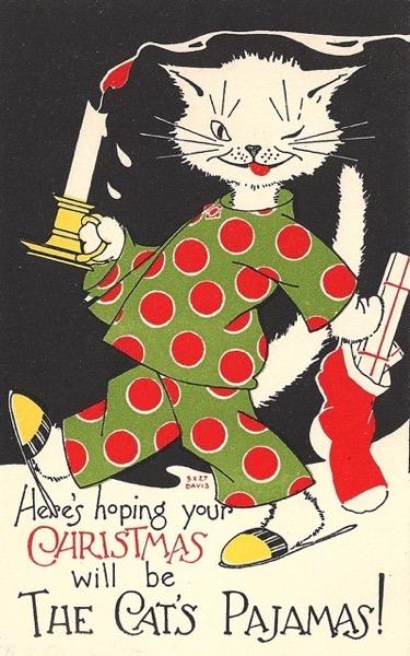 Christmas 2020 – 23 in a series –  Cat's Christmas Pajamas