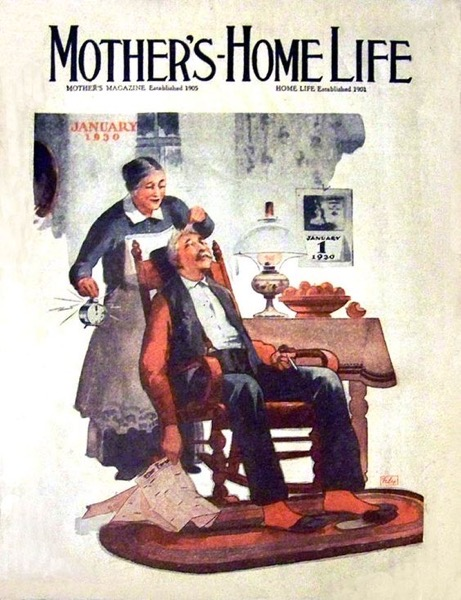 New Year's 2021 - 2 in a series - Mother's Home Life Magazine Cover