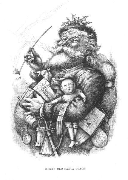 Christmas 2020 - 16 in a series - Santa Claus Etching by Thomas Nast