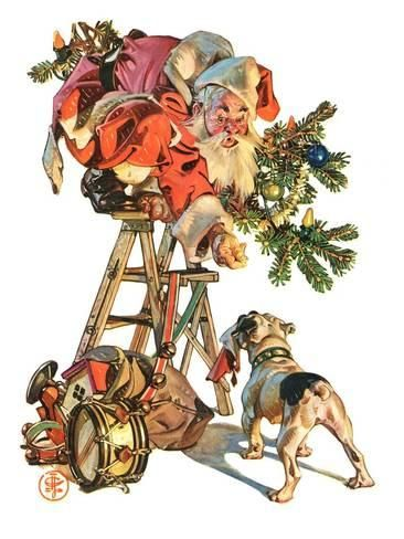 Christmas 2020 – 14 in a series – Santa Up A Ladder