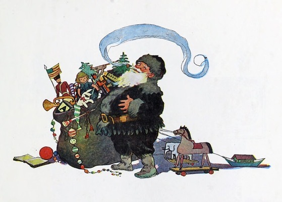 "Order Now! Vintage ""A Right Jolly Old Elf"" Illustration from 1912) from Douglas E. Welch Design and Photography [For Sale]"