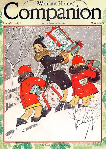 Order Now! Vintage Christmas Magazine Cover from Women's Home Companion (1932) Christmas Cards from Douglas E. Welch Design and Photography [For Sale]