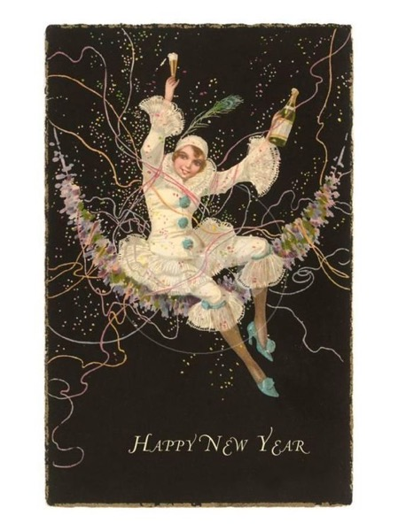 New Year's 2021 - 1 in a series - Vintage New Year Card