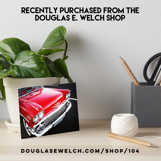 Recently Purchased: Red Chevy Art Board Print by Douglas E. Welch Design and Photography [For Sale]