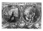 Vintage Civil War Christmas Eve Etching (published