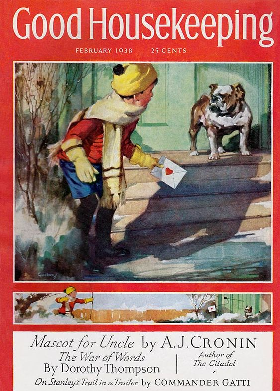 Valentine's 2021 – 1 in a series – Vintage 1938 Good Housekeeping Cover