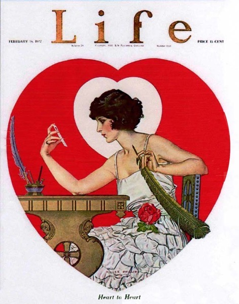 Valentine's 2021 - 6 in a series - Life Magazine Valentine Cover (1922)