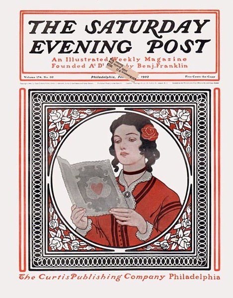 Valentine's 2021 - 10 in a series - Saturday Evening Post Valentine's Cover (1902)