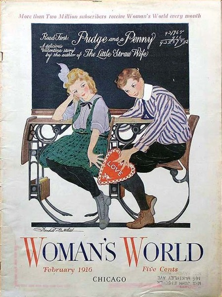 Valentine's 2021 – 3 in a series – Woman's World Valentine's Cover (1916)