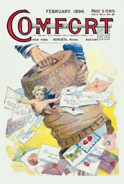 Valentine's 2021 – 14 and end of the series – Comfort Magazine Valentine's Cover (1896)