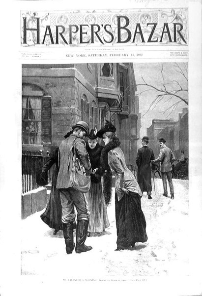 Valentine's 2021 - 9 in a series - Harper's Bazar Vanetine's Cover (1892)