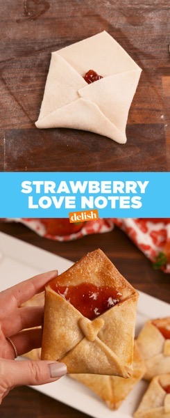 Valentine's 2021 - 11 in a series - Valentine's Strawberry Love Notes Pastry [Recipe]