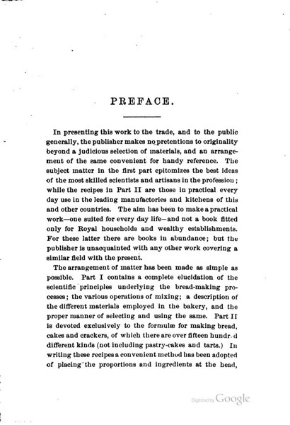 Historical Cooking Books - 91 in a series - The complete bread, cake and cracker baker (1881) by J. Thompson Gill Preface