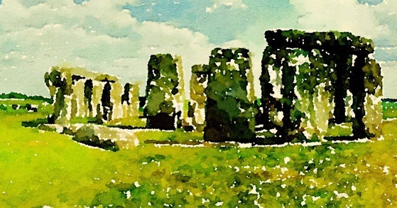 Stonehenge in Watercolor via Instagram