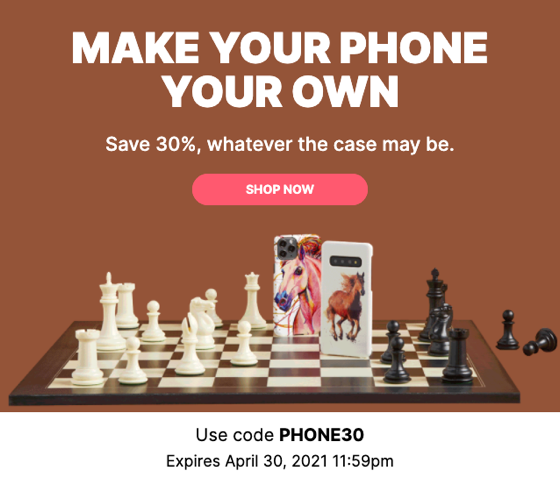 30% off phone cases that are 100% you from Douglas E. Welch Design and Photography