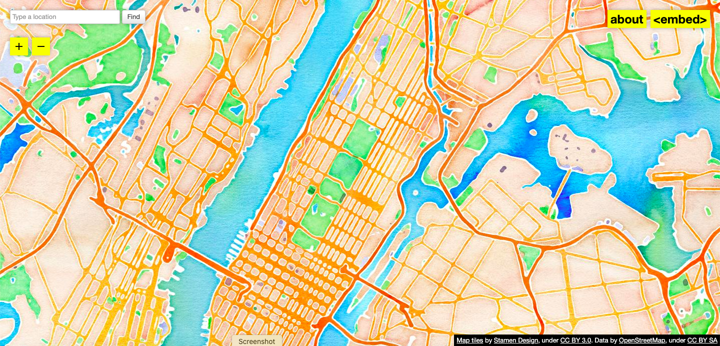 Behind the Design Watercolor Maptiles via the Cooper Hewitt Museum [Live] – May 18, 2021