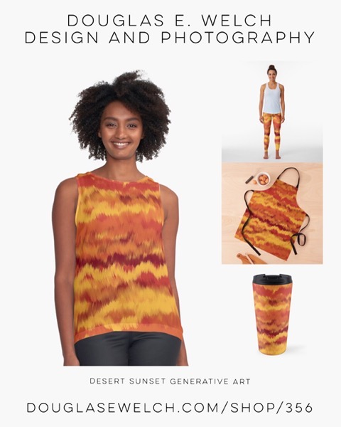 New Design: Desert Sunset Generative Art Products from Douglas E. Welch Design and Photography [For Sale]
