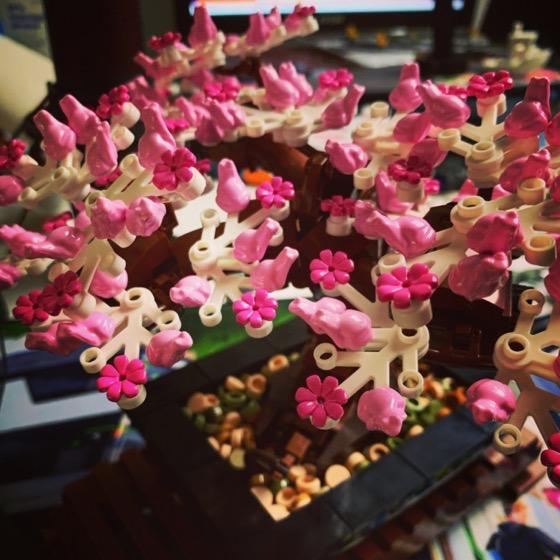 Sakura Bonsai from Lego Botanical Series via Instagram