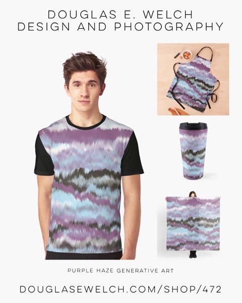 New Design: Purple Haze Generative Art Products from Douglas E. Welch Design and Photography [Shopping]