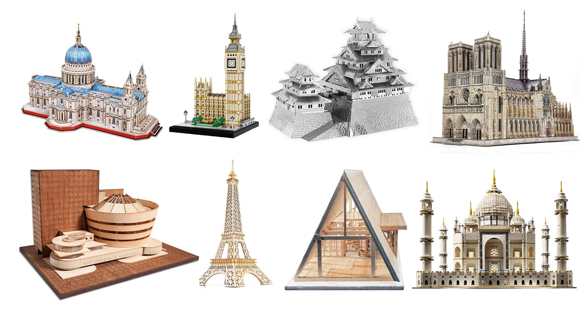 15 Architecture Model Kits for Designers Who Love Puzzles via My Modern Met [Shared]