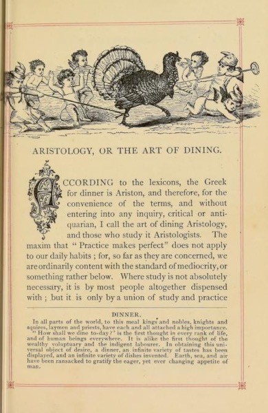 Historical Cooking Books - 103 in a series - The gentleman's table guide and table companion to the art of dining & drinking... (1873)