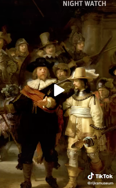 That's right: we taught a computer how to paint like Rembrandt! via Rijksmuseum on TikTok [Video] [Shared]