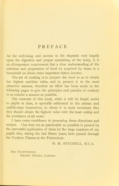 Historical Cooking Books - 107 in a series - Polytechnic cookery book (1907)