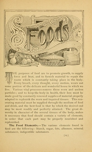 Historical Cooking Books - 111 in a series - Science in the kitchen: A scientific treatise on food substances and their dietetic properties, together with a practical explanation of the principles of healthful cookery, and a large number of original, palatable, and wholesome recipes (1892) by E. E. (Ella Ervilla) Kellogg