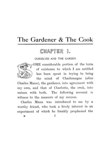 Historical Cooking Books - 114 in a series - The gardener and the cook (1913) by Lucy H. Yates
