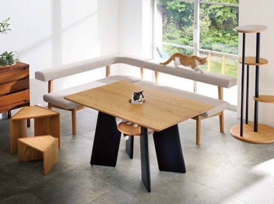 Feline-Friendly Furniture Gives Cats a Seat at the Table and Makes Them the Centerpiece via Adafruit Industries [Shared]