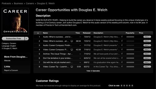 Career op itunes