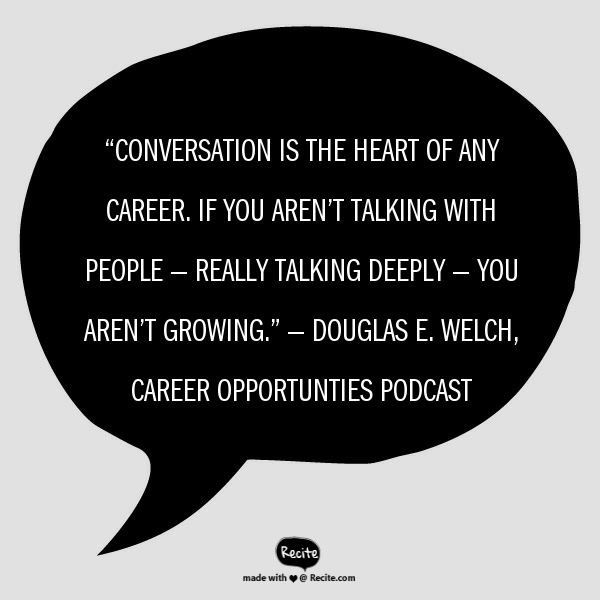 Conversation is the heart…