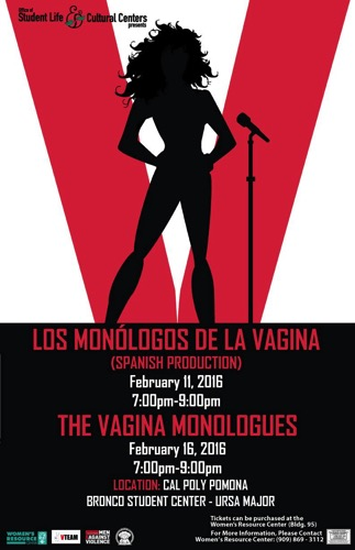 Rosanne performs in The Vagina Monologues at Cal Poly Pomona