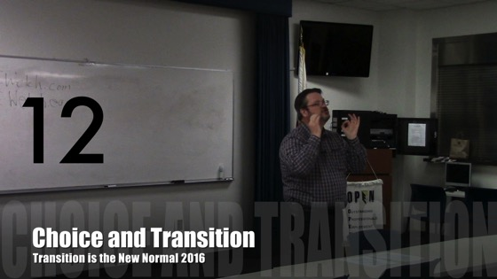 Choice and Transition from Transition is the New Normal 2016