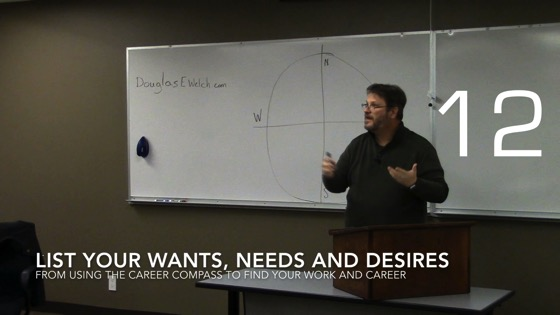 List Your Wants, Needs and Desires from Using the Career Compass to Find Your Work and Career