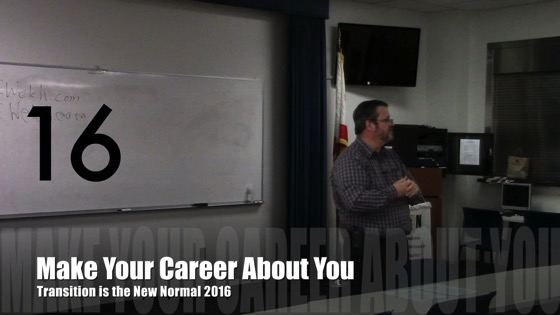 Make Your Career About You from Transition is the New Normal 2016