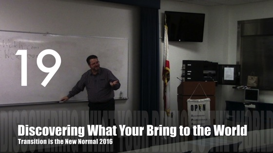 Discover What You Bring to the World from Transition is the New Normal 2016