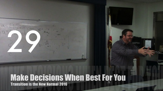 Make Decisions When Best For You from Transition is the New Normal 2016